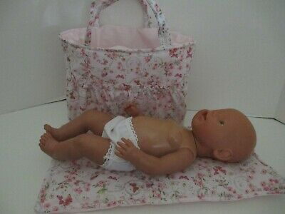 "Dolls Nappy Bag & Change pad,  ""Butterflys - Flowers  """