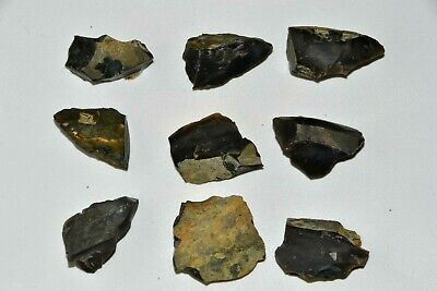 Natural Black Flint Stone for Fire Arrow Knapping Flintlock