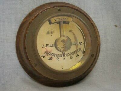 Vintage Brass And Timber Clinometer By C.plath - Hamburg - Germany -Vgc
