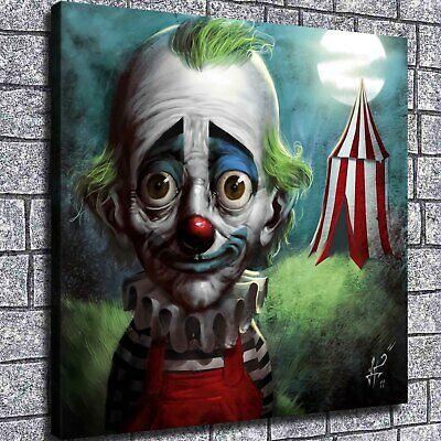 "12""x12""Sad Clown Poster Painting Print on Canva Home Decor Room Wall Art Picture"
