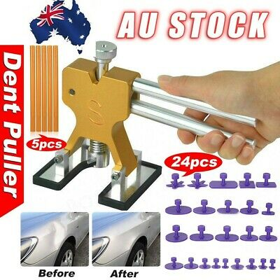 Paintless Hail Removal Tools Kit PDR Dent Puller Repair Lifter Car Body Glue Tab