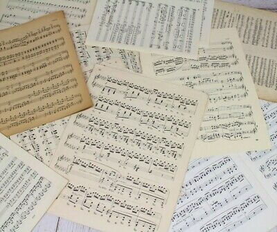 ~~Vintage Music Sheets - Christmas Crafts. Decoupage Card Making Scrapbooking