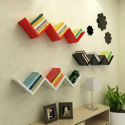 Floating Wall Stylish Space Saving Shelves Display Shelf Bookshelf Storage Unit