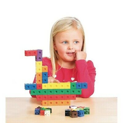 Educational Counting Toy, Set of 100 Snap Cubes Primary School Activity