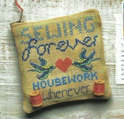 Sewing Embroidery Purse or Card or Pincushion Cross Stitch Pattern (a9m30)