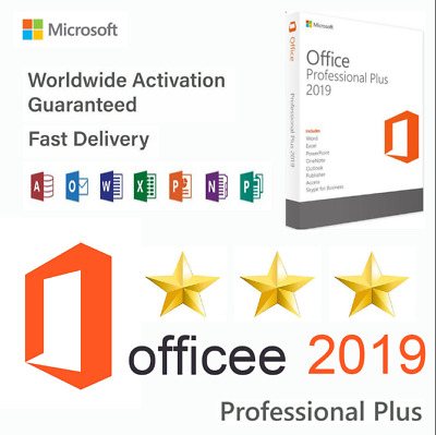 MS Office 2019 Professional Plus 32/64 Bit 1PC Key for Windows 10