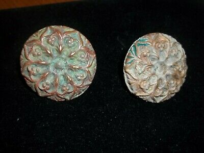 Large Very Ornate Door Or Drawer Pulls Antique & Exceptional