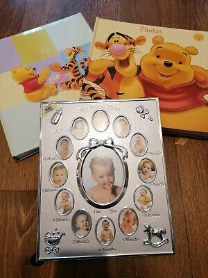 NEW Baby Photo Album And Baby's First Year Photo Frame