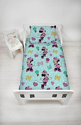 Disney Minnie Mouse Skip Junior Toddler Cot Bed Bundle Inc Duvet & Pillow