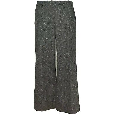 CAbi #230  Women's Dress Pants Tweed G Wide Leg Stretch Career Size 10 MSRP $108