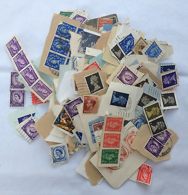 2Kg USED KILOWARE CHARITY COLLECTED UK PRE-DECIMAL STAMPS ON PAPER
