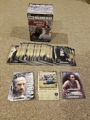 Topps 2018 The Walking Dead Hunters & Hunted Complete Base Set + 3 Full Inserts