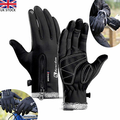 1Pair Bike Gloves Winter Thermal Warm Touch Screen Full Finger Windproof Cycling