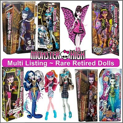 Monster High Doll Figures Multi Listing Rare & Retired Monsters Dolls Brand New