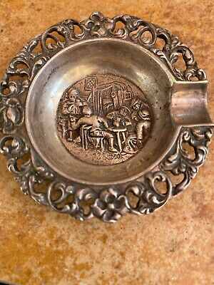 VTG Silverplated Ashtray Hallmark HH90-Herbert Hooijkaas~Approx. 2 1/2""
