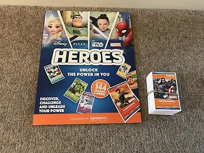 SAINSBURYS Heroes Complete Set Of Cards And Album 144 Cards Brand New