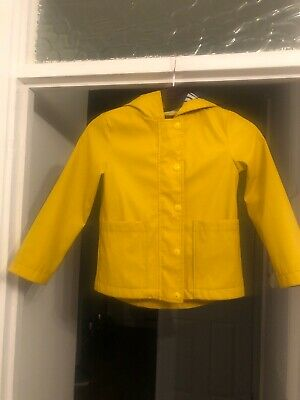 Girls Yellow Gap Kids Raincoat Size Small Age 4-5