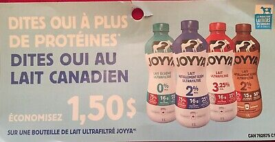 Lot of 20 x 1.50$ JOYYA Products Coupons Canada