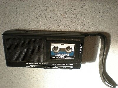 Craig Micro Cassette Electronic Recorder - Model J 552 DICTAPHONE GREAT WORKING