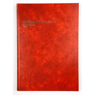 Collins 3880 Account Book A4 Day Book 10849 Red