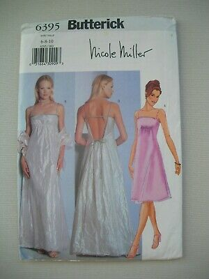 UNCUT Butterick Sewing Pattern 6395 - Womens Misses Evening Dress - Sizes 6-10