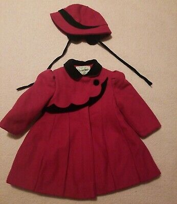 Vintage Rothschild Girl's Child Size 2T Pink Winter Wool Coat Jacket Stunning