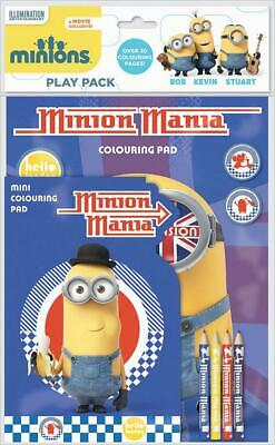 Minions Mania Play Pack Colouring Pads Pencils Childrens Activity Set Kids