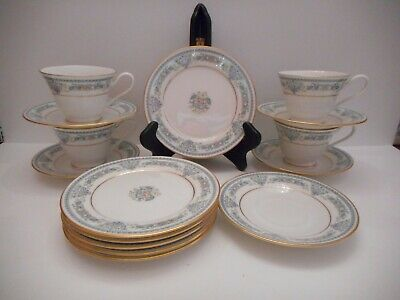 Lenox Oxford Bone China Fontaine Dessert Plates, Cups & Saucers 15 pieces total