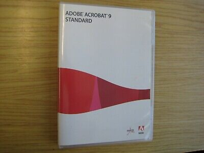 Adobe Acrobat 9 Standard Windows DVD with Serial No.