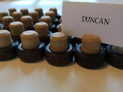 50x Whisky Cork Name Card Place Holders - Wedding /Dinner Table
