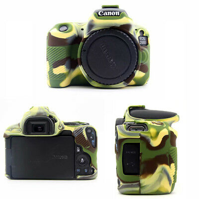 Soft Silicone Rubber Camera Bag Protective Body Case For Canon EOS 200D