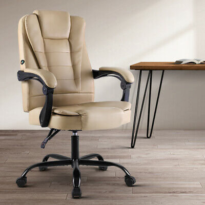 Artiss High Back Massage Home Office Executive Chair PU Leather Computer Padded