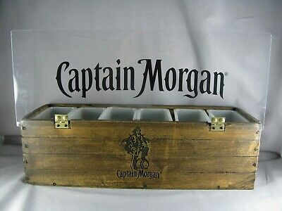 "Captain Morgan Bar Condiment Caddy, 18-3/4"", faux wood, 2013, dispenser, barware"
