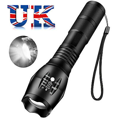 10w HIGH POWER MILATRY TACTICAL TORCH FLASHLIGHT 1000 x ZOOM- 5 MODES