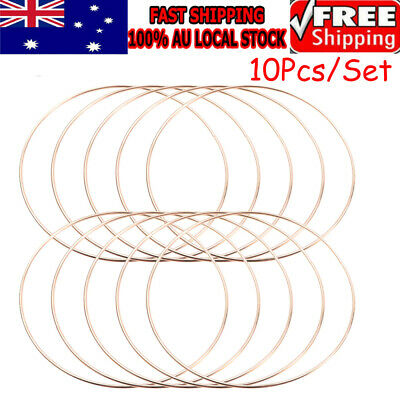 10Pcs Metal Dream Catcher Dreamcatcher Ring Macrame Craft Hoop Gold Accessor DIY