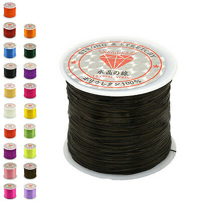 50M Strong Stretch Elastic Cord Wire rope Bracelet Necklace String Bead 0.5mmANE