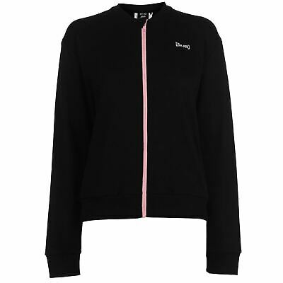 USA Pro Little Mix Bomber Jacket Womens Black Outdoor Top Ladies Outerwear