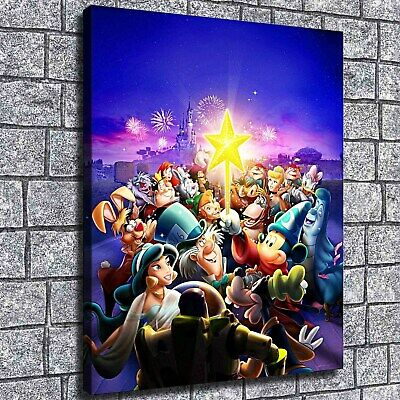 """12""""x16""""Disney characters star Paintings HD Print on Canvas Home Decor Wall Art"""