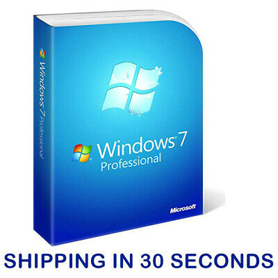 Windows 7 Pro Professional 32/64bit Licence Microsoft ESD Key Activation Code