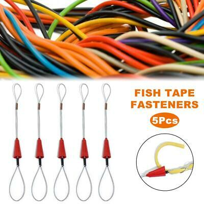 5Pcs Steel Fish Tape Wire Cable Puller Threader Electrician Electrical Plumber