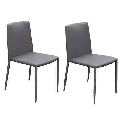 Modern Style Leatherette Upholstered Dining Chairs with Metal Tapered Legs,...