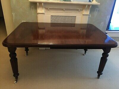 Antique Dining Table Telescopic Joseph Fitter Winder Mahogany Extending 19th