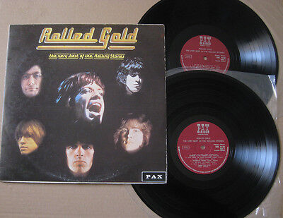 THE ROLLING STONES Rolled Gold VERY BEST ISRAELI 2x VINYL LP PAX LABEL NM !