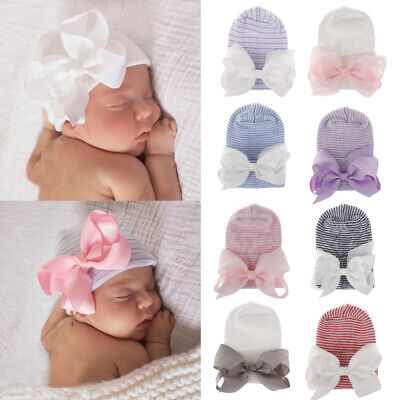Toddler Newborn Hospital Hat Infant Turban Nursery Beanie Hat Baby Girl Caps