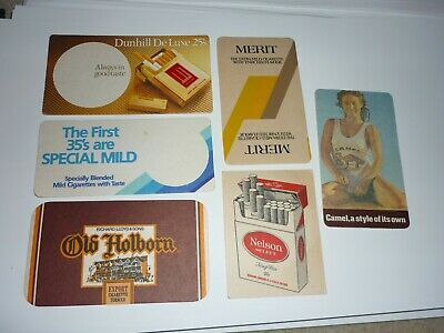 Collectable cigarette coasters - Set of 6 assorted cigarette rect. coasters2