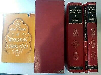 Winston Churchill Books by Odhams from 50s & 60s: Life and Times of & Trilogy.