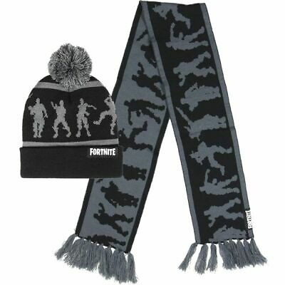 Fortnite Winter Hat and Scarf Set  New