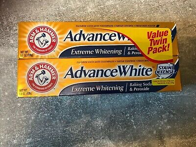 Arm & Hammer Advance White Fluoride Toothpaste Baking Soda & Peroxide Twin Pack