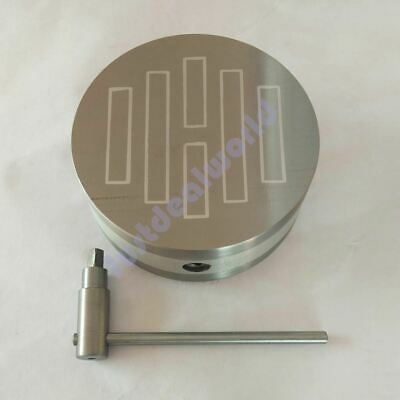 """4"""" Heavy Round Permanent Magnetic Chuck Standard poles strong power"""