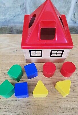 Child's toy Shape Sorter Sorting Fun Activity Toy wooden house baby toddler game
